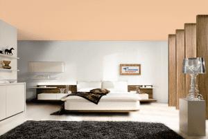 Крепкое дерево - цвет матового натяжного потолка в интерьере