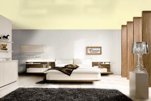 Лимонный шифон - цвет сатинового натяжного потолка в интерьере