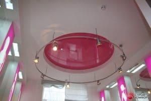 Двухуровневый потолок с круглым центром - галерея работ Строй Комфорт
