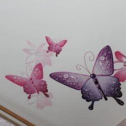 Натяжной потолок с фотопечатью Бабочки - галерея Строй Комфорт
