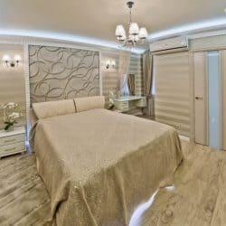Натяжной потолок в спальне - галерея Строй Комфорт