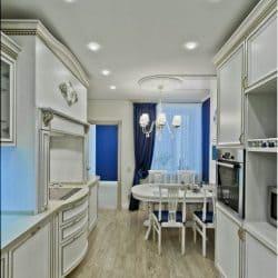 Натяжной потолок на кухне - галерея Строй Комфорт