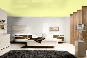 Хаки - цвет сатинового натяжного потолка в интерьере