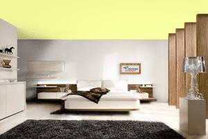 Хаки - цвет матового натяжного потолка в интерьере
