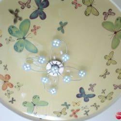 Сатиновый натяжной потолок с фотопечатью Бабочки - галерея Строй Комфорт