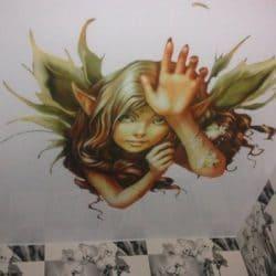 Натяжной потолок с фотопечатью Эльф - галерея Строй Комфорт