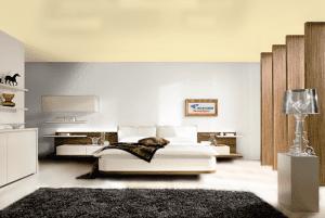 Пшеничный - цвет сатинового натяжного потолка в интерьере