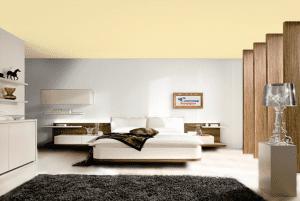 Пшеничный - цвет матового натяжного потолка в интерьере