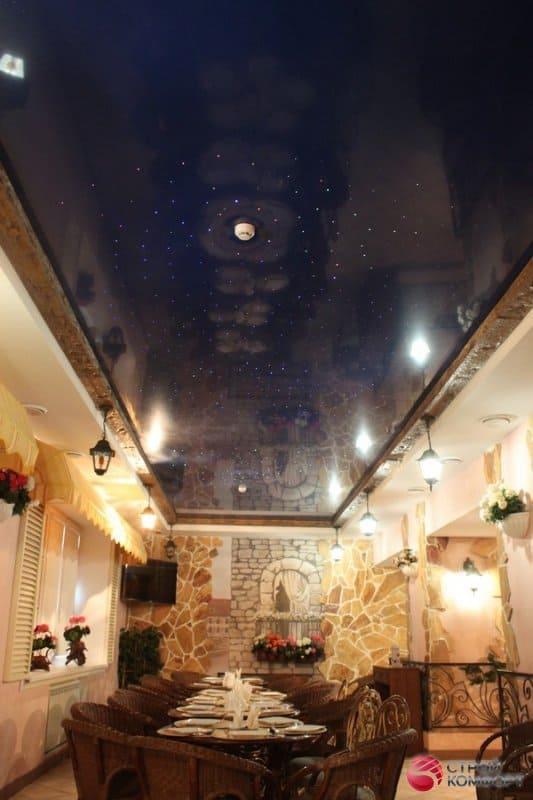 Двухуровневый потолок Звездное небо - галерея работ Строй Комфорт