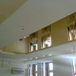 Двухуровневый зеркальный потолок - галерея работ Строй Комфорт