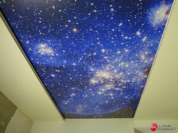 Натяжной потолок с фотопечатью Звездное небо - галерея Строй Комфорт
