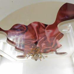 Многоуровневый натяжной потолок с фотопечатью - галерея Строй Комфорт