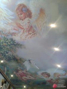 Натяжной потолок с фотопечатью Ангелы - галерея Строй Комфорт