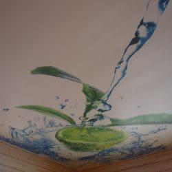 Натяжной потолок с фотопечатью Лайм - галерея Строй Комфорт