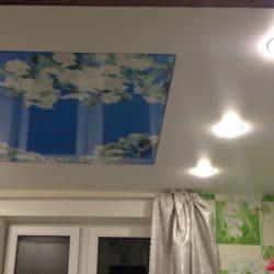 Натяжной потолок с фотопечатью Весенние цветы - галерея Строй Комфорт