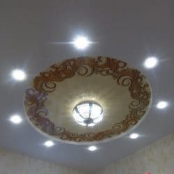 Натяжной потолок Круг с фотопечатью - галерея Строй Комфорт