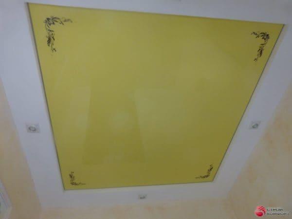 Желтый натяжной потолок - галерея Строй Комфорт