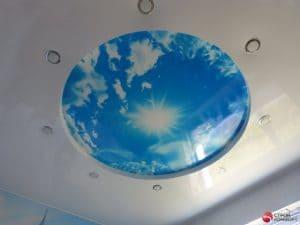 Многоуровневый натяжной потолок с круглой вставкой - Строй Комфорт