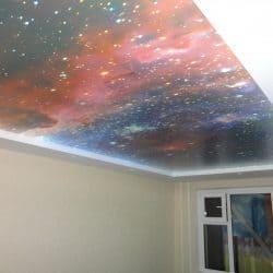 Натяжной потолок с фотопечатью Космос - Строй Комфорт