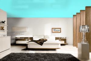 Аквамарин - цвет сатинового натяжного потолка в интерьере