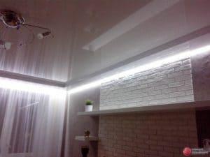 Глянцевый натяжной потолок - галерея Строй Комфорт