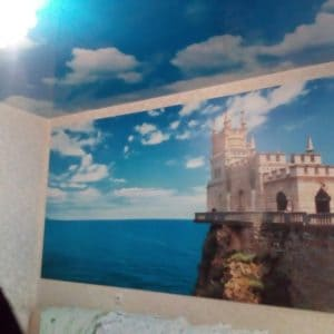Натяжной потолок с фотопечатью Небо и облака - галерея Строй Комфорт