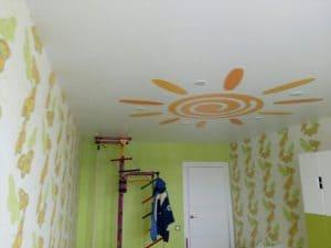 Матовый потолок с фотопечатью Солнце - галерея Строй Комфорт