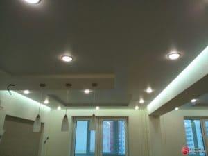 Прямоугольный черный натяжной потолок - галерея работ Строй Комфорт