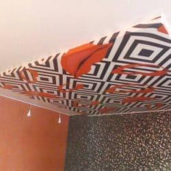 Натяжной потолок с фотопечатью ретро - галерея работ Строй Комфорт