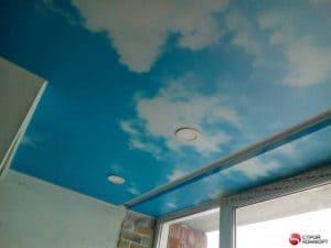 Натяжной потолок с фотопечатью небо - галерея работ Строй Комфорт