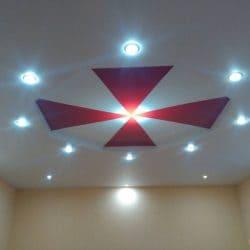 Натяжной потолок с узорным орнаментом - галерея работ Строй Комфорт