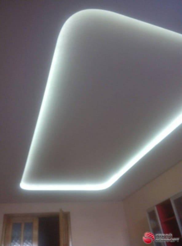 Прямоугольный натяжной потолок - галерея работ Строй Комфорт