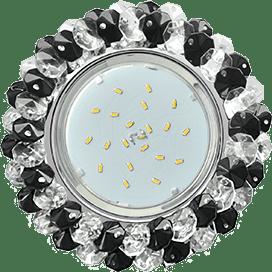 Лампа для натяжного потолка GX53 хрусталь прозрачный черный
