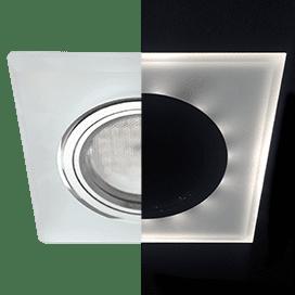 Лампа для натяжного потолка MR16 с подсветкой квадрат