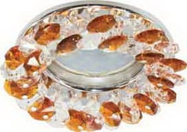 Лампа для натяжного потолка MR16 хрусталь прозрачный янтарь