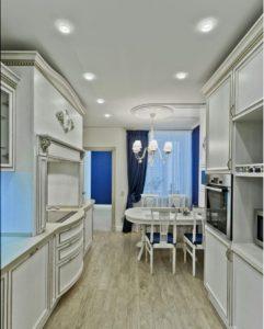 Тканевые потолки Descor на кухне - смотреть фото в Кирове