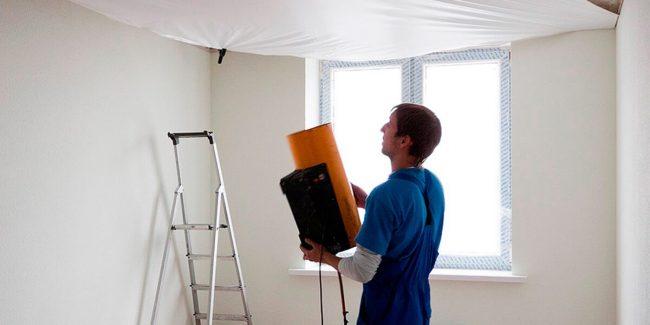 установка и монтаж натяжного потолка